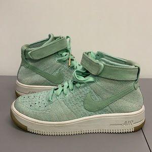 Nike W AF1 Flyknit Enamel Air Force 1 Green Women